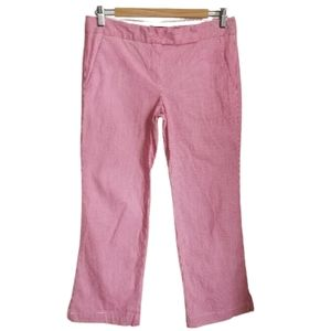 THEORY Red & White Strippes Nautical Ankle Pants
